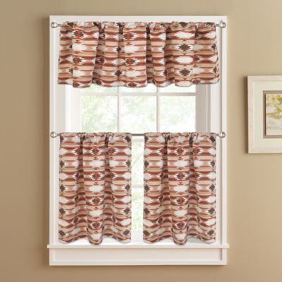 Sunset 24-Inch Window Curtain Tier Pair in Spice
