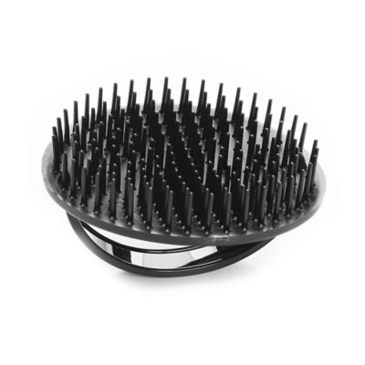Palm Style Shampoo Brush in Black