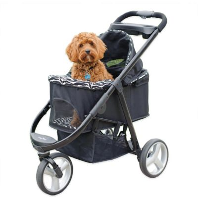 Imperial Pet Stroller in Charcoal/Zebra
