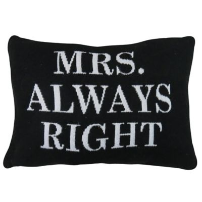 The Vintage House by Park B. Smith® Always Right Tapestry Oblong Throw Pillow