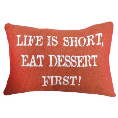 The Vintage House by Park B. Smith® First Dessert Tapestry Oblong Throw Pillow