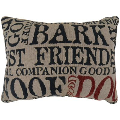 The Vintage House by Park B. Smith® Good Dog Tapestry Oblong Throw Pillow