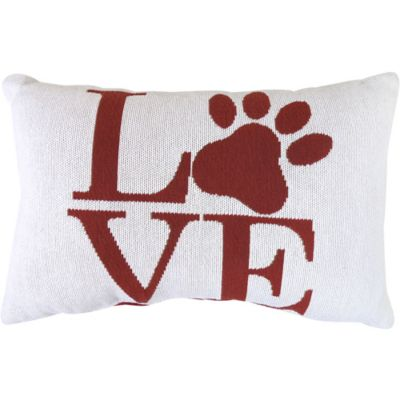 The Vintage House by Park B. Smith® Love Paw Tapestry Oblong Throw Pillow