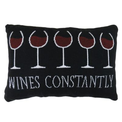 "The Vintage House by Park B. Smith® ""Wines Constantly"" Tapestry Oblong Throw Pillow"
