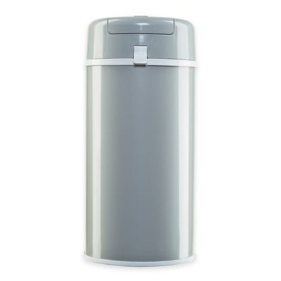 Bubula Diaper Pail in Grey/White