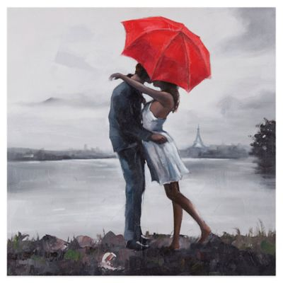 Ren-Wil Kissing in in the Rain Wall Art