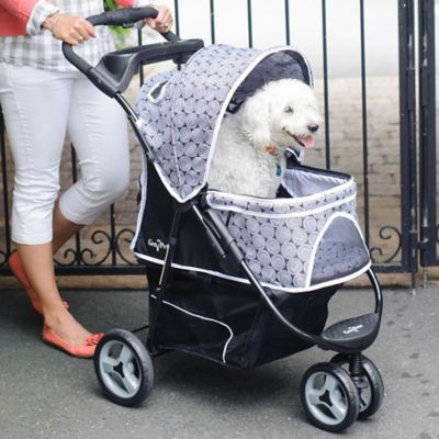 Promenade Pet Stroller in Green Raindrops Pattern