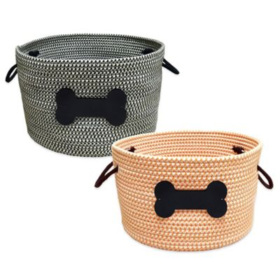 Rope Pet Toy Storage Basket in Black