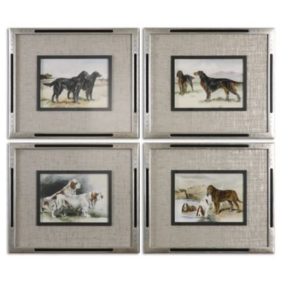 Uttermost Working Dogs Framed Art (Set of 4)