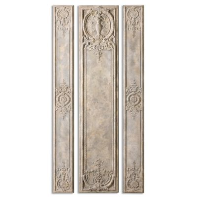 Uttermost Argentario Aged Panels Wall Decor in Ivory (Set of 3)