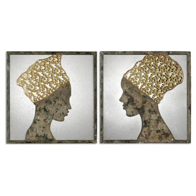 Uttermost Royal Reflections 24-Inch Square Wall Décor (Set of 2)
