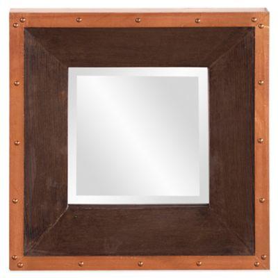 Brown Copper Square Mirror