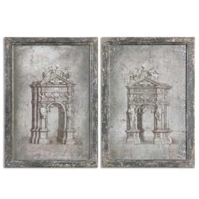 Uttermost European Architecture Vintage Art (Set of 2)