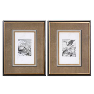 Uttermost Antique Birds Framed Art (Set of 2)