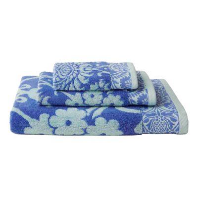 Amy Butler for Welspun Baligate 3-Piece Bath Towel Set in Blue