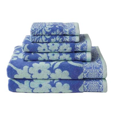 Amy Butler for Welspun Bailgate 6-Piece Bath Towel Set in Blue