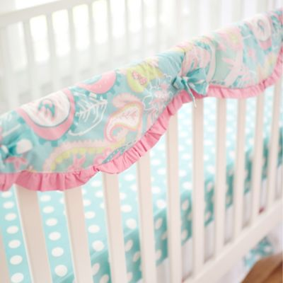 My Baby Sam Pixie Baby Crib Rail Cover in Aqua