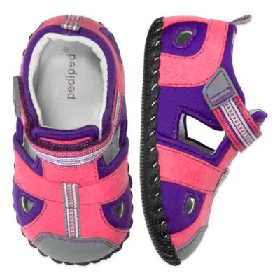 pediped® Originals Size 0-6M Sahara Sandal in Fuschia