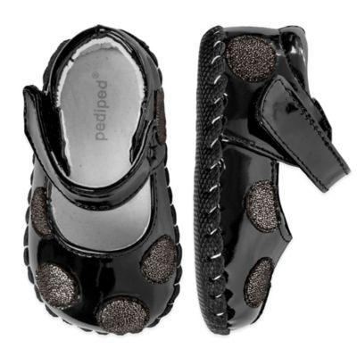pediped® Originals Size 6-12M Giselle Patent Shoe in Black
