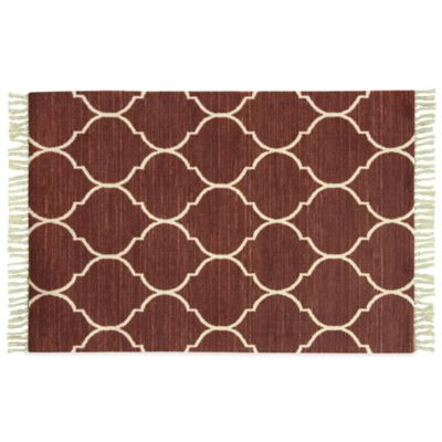 Bacova Antiqua 1-Foot 7-Inch x 2-Foot 8-Inch Rug in Red
