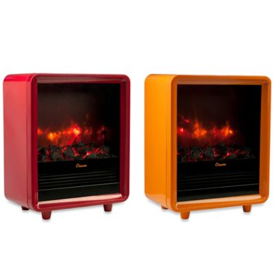 Crane Mini Fireplace Heater in Red