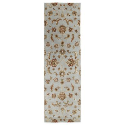 Kaleen Mystic-Europa 2-Foot 3-Inch x 7-Foot 9-Inch Runner in Pewter