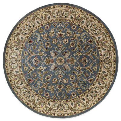 Kaleen Mystic-William 5-Foot 9-Inch Round Rug in Blue
