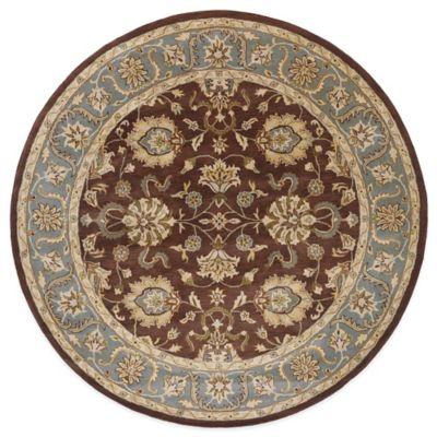 Kaleen Mystic-Agean 5-Foot 9-Inch Round Rug in Brown
