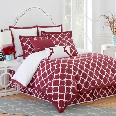 Rosenwald Hampton Links Reversible King Comforter Set in Garnet