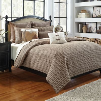 Croscill® Aspen Twin Duvet Cover in Dark Natural