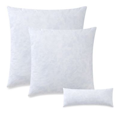 Feather 22-Inch Square Throw Pillow Insert in White