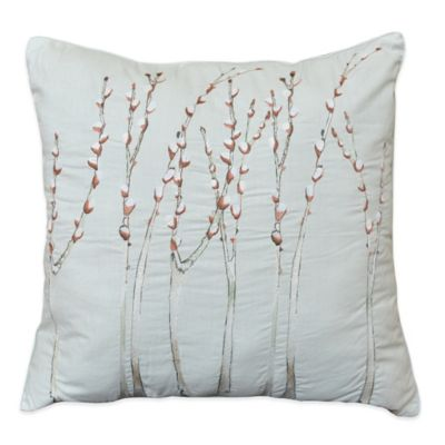 Shell Rummel Feather Square Throw Pillow in Sea Blue
