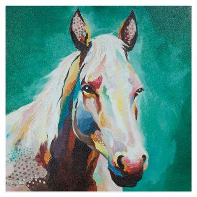 Eddy Horse Whimsical Canvas Wall Art
