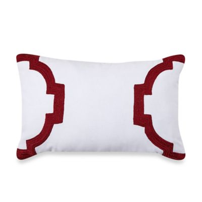 Jill Rosenwald Hampton Links Oblong Throw Pillow in White