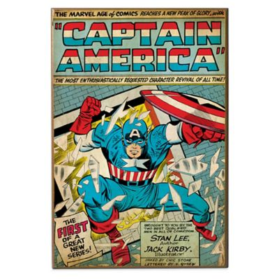 "Captain America ""The First""Marvel Comic Book Cover Wall Décor"