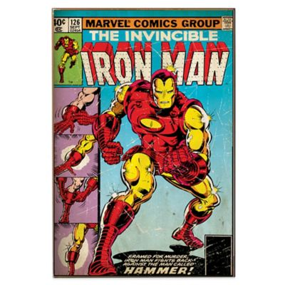"Iron Man ""Hammer"" Marvel Comic Book Cover Wall Décor"