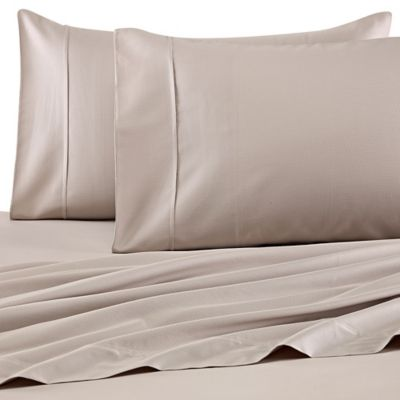 Barbara Barry Perfect Pin Dot King Sheet Set in Taupe