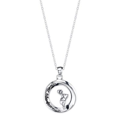 Disney® Winnie the Pooh Sterling Silver 18-Inch Chain Sweet Like Honey Pendant Necklace