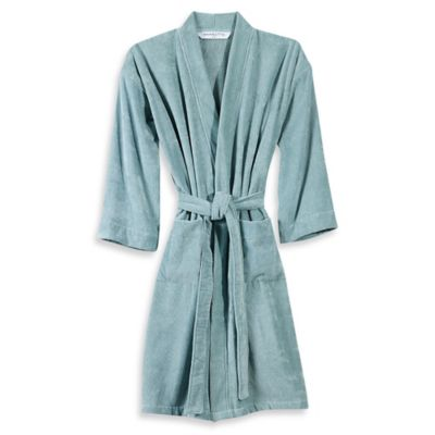 Wamsutta® Sheared Terry Small/Medium Kimono Bathrobe in White