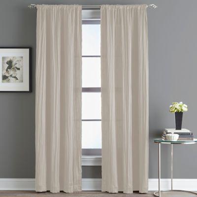 Fortuna Room Darkening Rod Pocket 63-Inch Window Curtain Panel in Linen