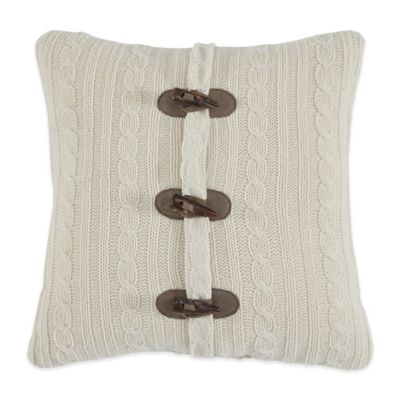 Croscill® Aspen Fashion Square Throw Pillow in White