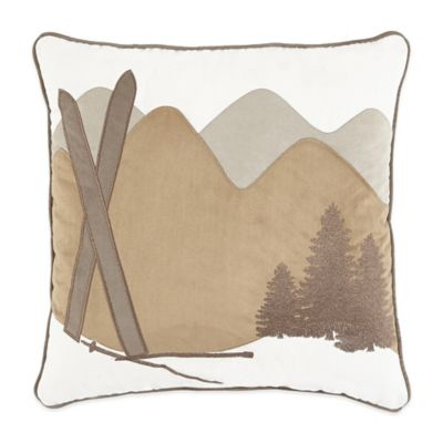 Croscill® Aspen Square Throw Pillow in Mahogany