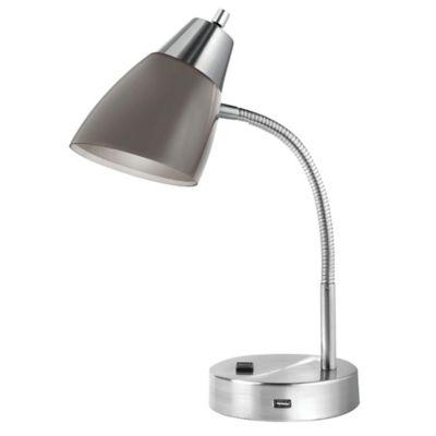 Studio 3B Dual Shade Desk Lamp in Charcoal