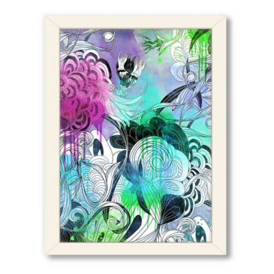 "Urban Road Collection ""Untitled 21"" Framed Floral Drawing Print"