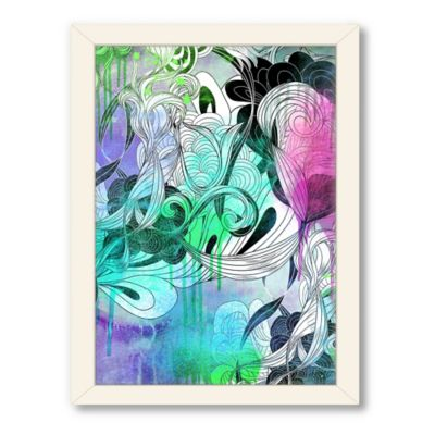 "Urban Road Collection ""Untitled 22"" Framed Floral Drawing Print"