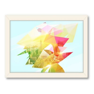 Americanflat Urban Road Collection Geometric City Framed Art Work