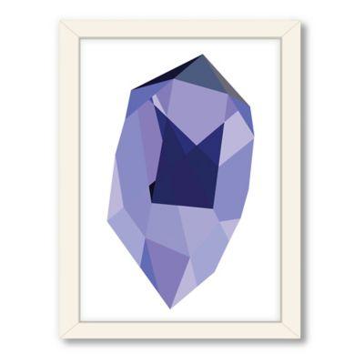 Americanflat Urban Road Collection Geometric Gemstone 1 Framed Art Work
