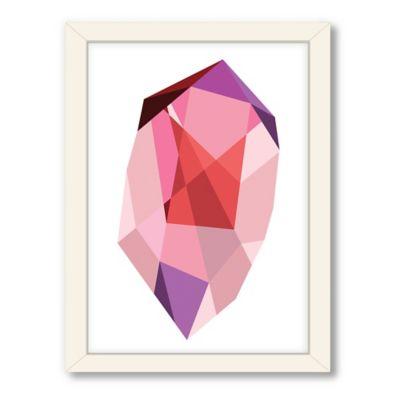 Americanflat Urban Road Collection Geometric Gemstone 3 Framed Art Work