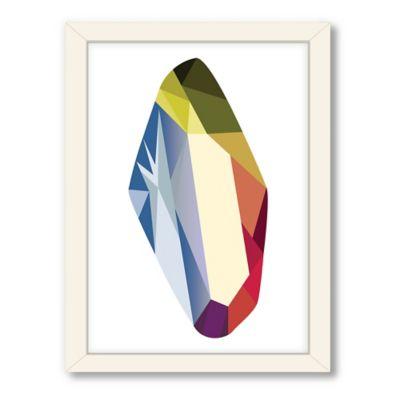 Americanflat Urban Road Collection Geometric Gemstone 7 Framed Art Work