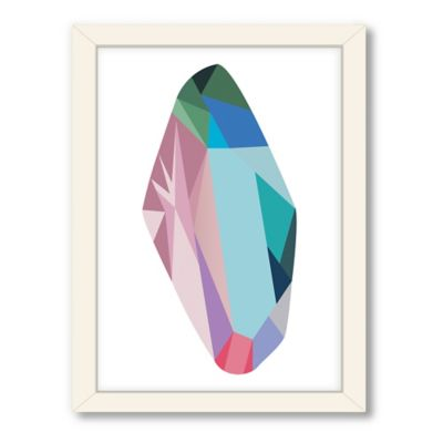 Americanflat Urban Road Collection Geometric Gemstone 8 Framed Art Work